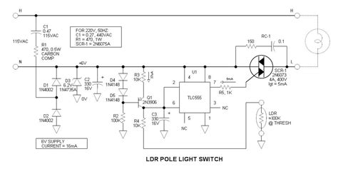 ldr pole light switch project