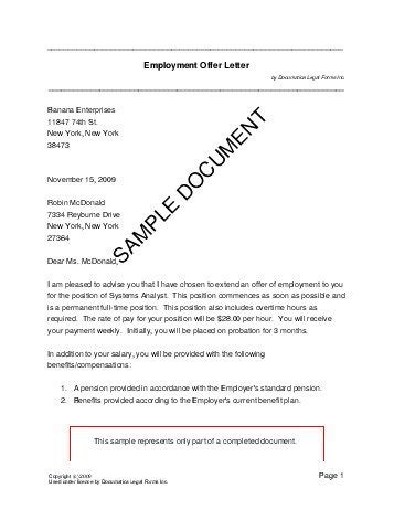 Contract Offer Letter Format employment offer letter germany templates agreements contracts and forms