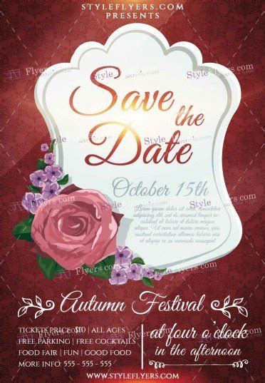 Save The Date Psd Flyer Template 12040 Styleflyers Save The Date Template Psd