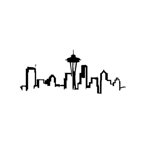 seattle skyline tattoo designs sea rious seattle skyline decals dalen s visual local