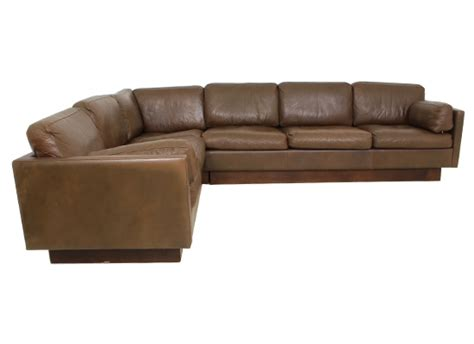 brown and orange sofa danish thams corner sofa orange and brown