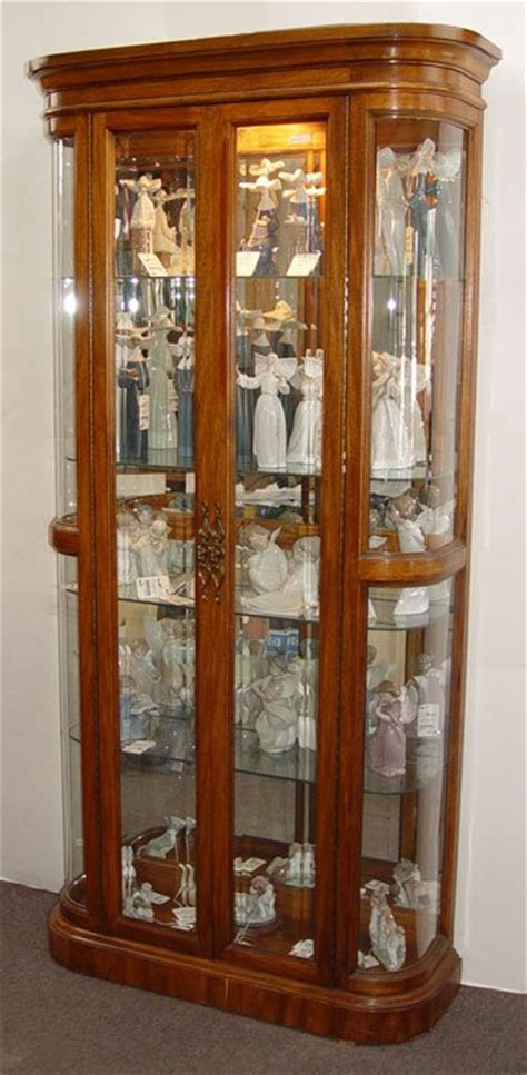 662 martinsville bow sided curio display cabinet lot 662