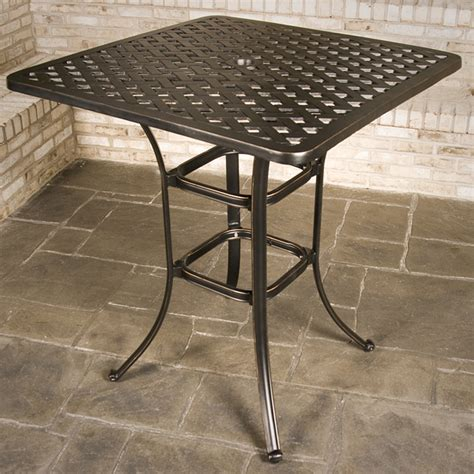 bar height patio tables chateau bar height outdoor patio furniture set family leisure
