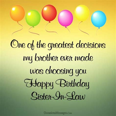 Happy Birthday In Wishes Happy Birthday Wishes For Sister In Law Occasions Messages