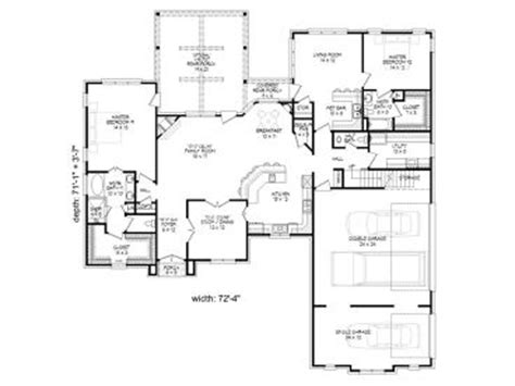 multigenerational house plans with two kitchens home