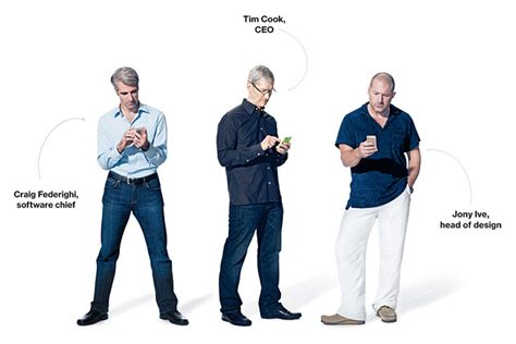 apple executives tim cook jony ive craig federighi talk new iphones ios