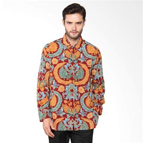Kemeja Pria Kemeja Batik Lengan Panjang Elang Kembar Jalaran Sp408 jual arjunaweda kemeja batik manuk kembar merah tua 65011017 harga kualitas