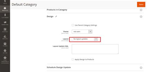 magento category custom layout update exle category magento2 how to add custom layout in admin