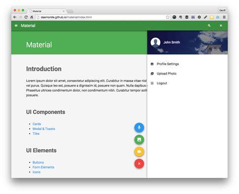 material design google html material html5 ui design based on google material