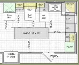 Kitchen island layout dimensions kitchen island layout dimensions