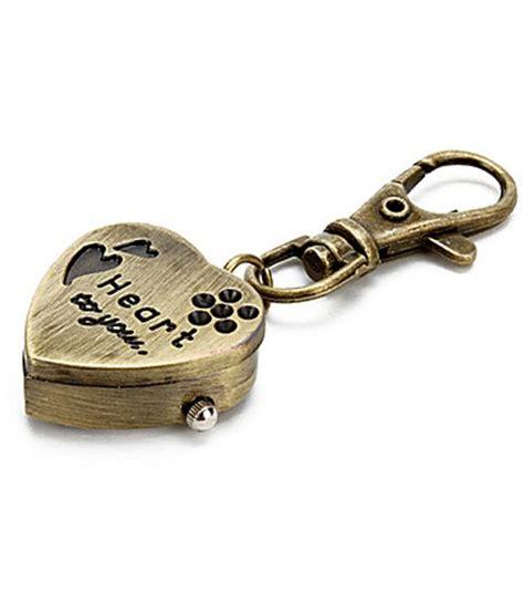 design keychains online kairos designer mini heart clock keychain vintage key