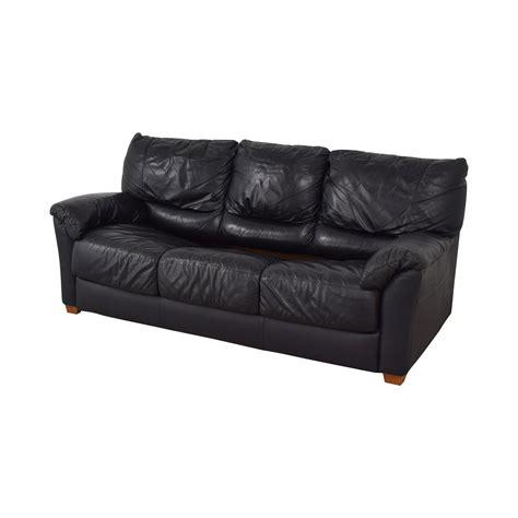 Sofa Second by 88 Black Three Cushion Convertible Sleeper
