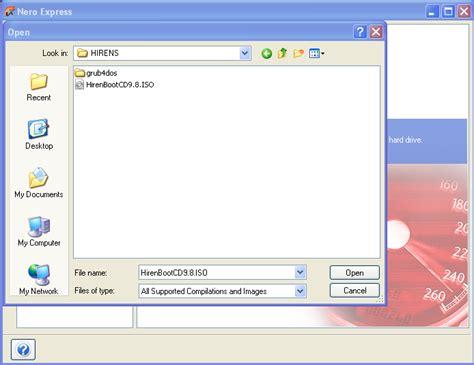 membuat file iso dengan image burn cara membuat bootable quot hiren sbootcd 9 8 quot pada quot cd dvd