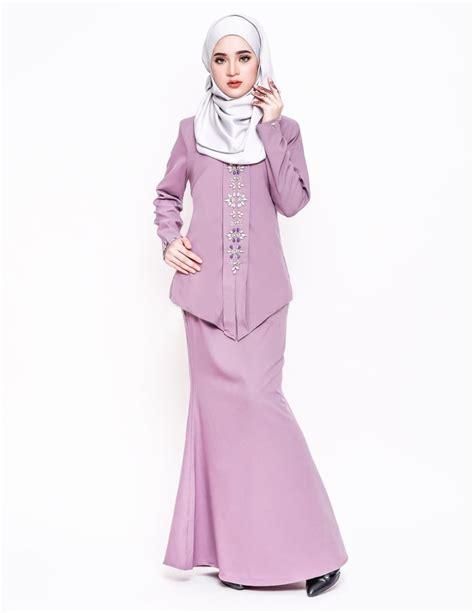 Baju Kurung Warna Pink Purple baju kurung moden alyah purple lovelysuri