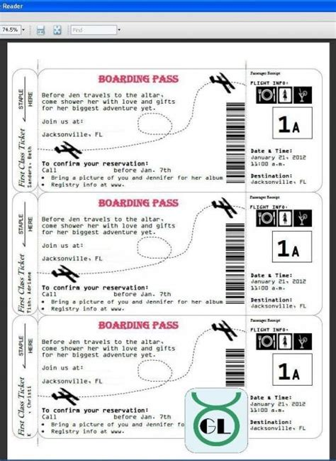 airline ticket invitation template free 36 best boarding pass images on marriage