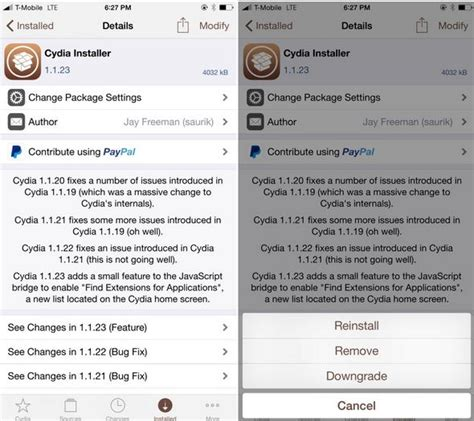 how to get full version of cydia how to downgrade cydia package or tweak to any version