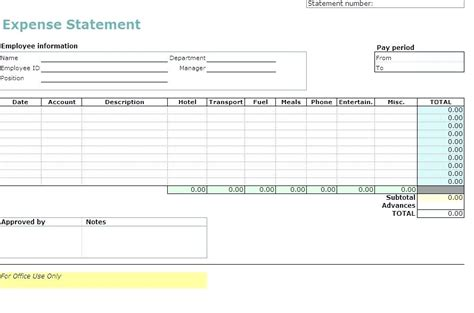 easy expense report template simple expense report virtuart me