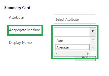 summary card get aggregated information for any enclosed
