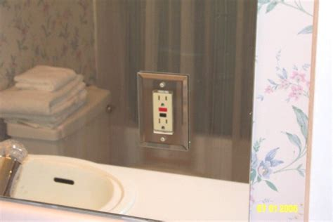 Receptacle In Mirror Ecn Electrical Forums Bathroom Mirror With Electrical Outlet
