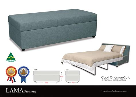 sofa bed with ottoman capri ottoman sofa bed the australian made caign