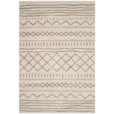 and beige area rug safavieh arizona shag ivory beige 8 ft x 10 ft area rug asg741a 8 the home depot