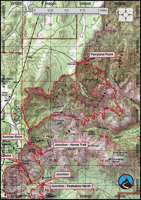 bryce hiking map hiking bryce bryce road trip