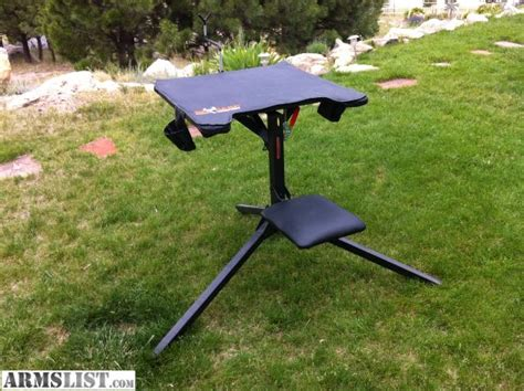 big game shooting bench armslist for sale quot big game quot 360 degree swivel shooting