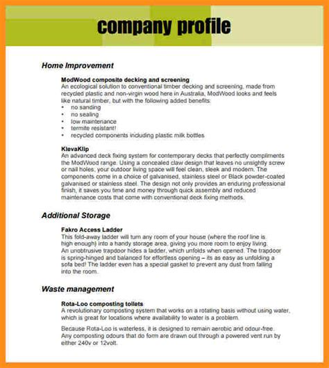 6 real estate company profile sle parts of resume