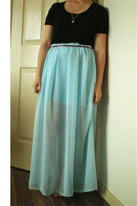 light blue sheer diy maxi skirts black cotton on ts