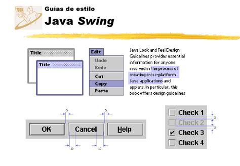 java swing definition dise 241 o de interfaces