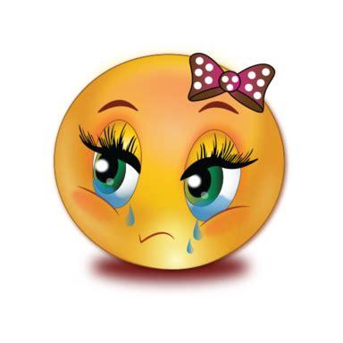 sad crying girl emoji