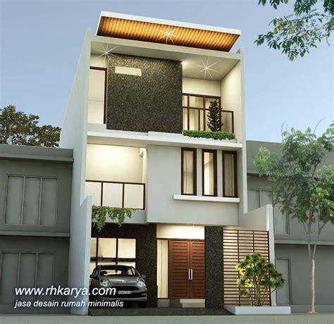 desain rumah minimalis  lantai lebar  meter modern elegan jasa desain rumah minimalis