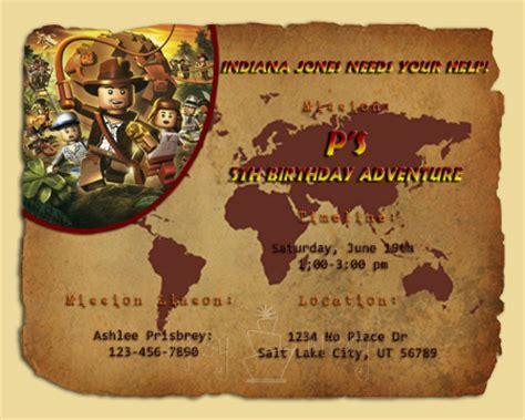 printable indiana jones birthday invitations lego indiana jones birthday invitation ashlee marie