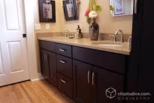 Dark Vanity Bathroom Ideas Dark Mission Bath Cabinets Cliqstudios Traditional