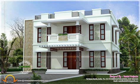 beautiful home design beautiful home design flat roof style kerala home design