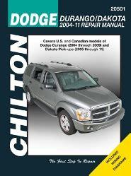 car repair manuals online pdf 2009 dodge durango on board diagnostic system 2004 2009 dodge durango 05 11 dodge dakota chilton s total car care manual