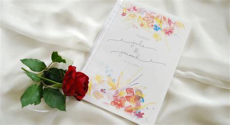 Hochzeitseinladung Aquarell by Blumen Der Judith Ihr