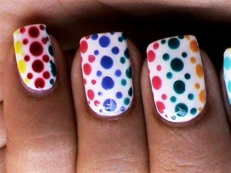 easy nail art using dotting tool dotting nail art designs for beginners cute easy polka