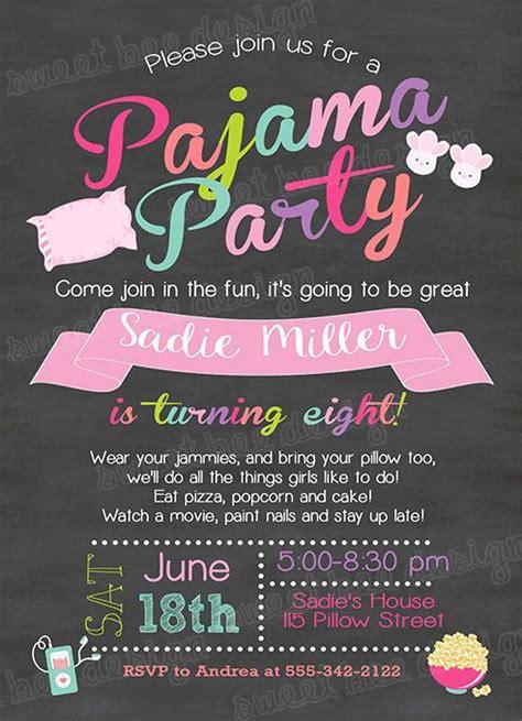pajama party invitations cloveranddot com