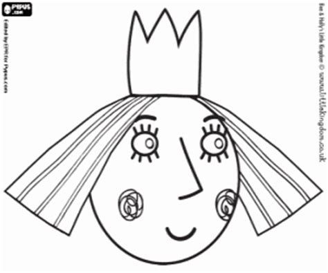 princess holly coloring page ben and holly coloring pages printable games