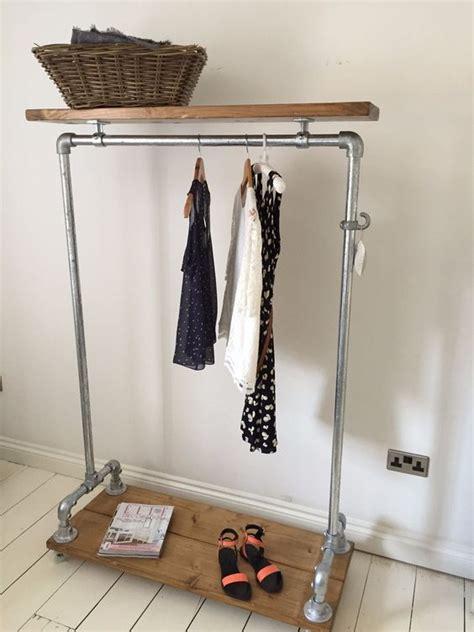 vintage industrial clothes rail shelf wardrobe shoe