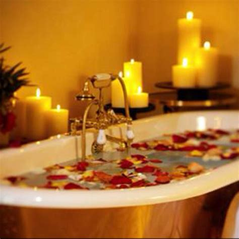 candles bathroom romantic candle lit bath water calming love light red