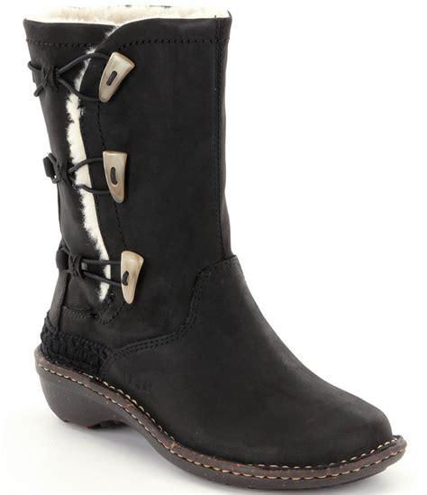 ugg 174 kona elastic toggle leather boots dillards