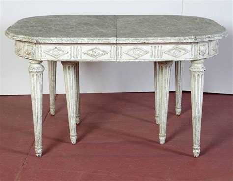 Large Kitchen Tables With Leaves Large Antique 19th Century Louis Xvi Painted Dining