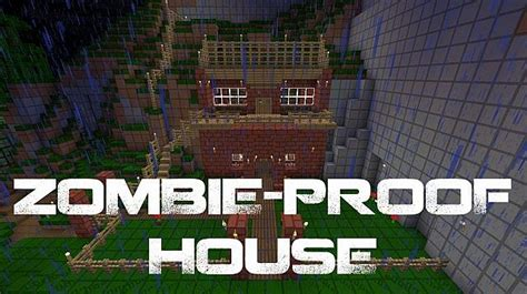 how to create a secure zombie proof home guns ammo zombie proof house minecraft project