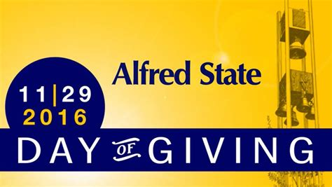Alfred State Calendar Day Of Giving To Launch Nov 29 Alfred State