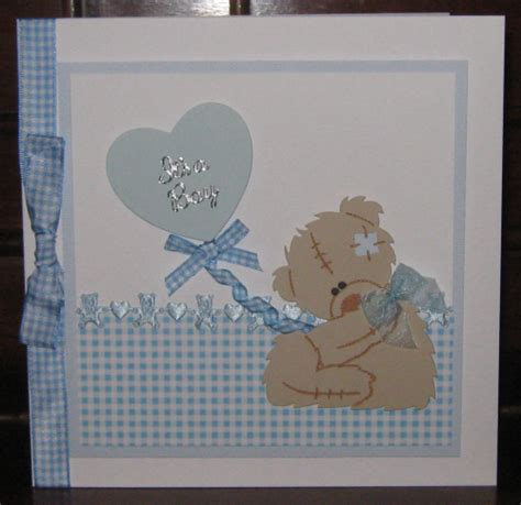 Baby Handmade Cards - luxury handmade card new baby boy card tatty teddy with