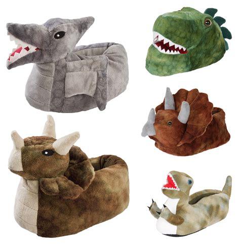 mens dinosaur slippers 3d novelty dinosaur slippers fleece booties dino
