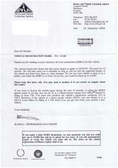 Acknowledgement Letter Dvla Mojawyspa Co Uk Forum Nie Zaplacony Road Tax Problem