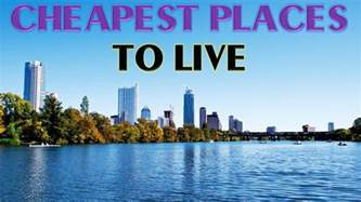 cheap place to live 10 cheapest places to live in the us youtube